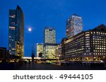 canary wharf by night  london ... | Shutterstock . vector #49444105