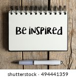 be inspired   be inspired word... | Shutterstock . vector #494441359