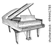 Stylized Piano. Musical...