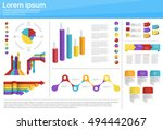 graph set finance diagram... | Shutterstock .eps vector #494442067