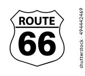 route 66 sign  | Shutterstock .eps vector #494442469