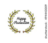 ribbon laurel wreath vector   Shutterstock .eps vector #494443009