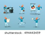 business man working time... | Shutterstock .eps vector #494443459