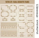 vector set of decorative hand... | Shutterstock .eps vector #494444821