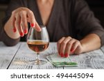 women with alcohol close up | Shutterstock . vector #494445094