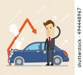 insurance  concept. upset man...   Shutterstock .eps vector #494448967