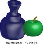 vase and apple   vectorial | Shutterstock .eps vector #4944544