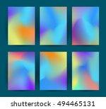 fluid colorful backgrounds set. ... | Shutterstock .eps vector #494465131