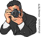 photographer with a camera | Shutterstock .eps vector #494467879