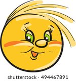 yellow ball with eyes | Shutterstock .eps vector #494467891