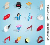 isometric theatre set icons....