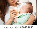 closeup of a cute newborn baby...   Shutterstock . vector #494495455