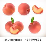 peach. sweet fruit. 3d vector... | Shutterstock .eps vector #494499631