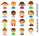 vector illustration set of... | Shutterstock .eps vector #494502229