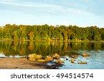 Autumn on Pickerel Point.  Destination Promise Land State Park in Pennsylvania