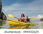 kayak activity leisure exercise ... | Shutterstock . vector #494532625