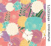 ornate floral seamless texture  ... | Shutterstock .eps vector #494535271
