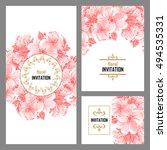 vintage delicate invitation... | Shutterstock . vector #494535331