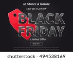 banner black friday with red... | Shutterstock .eps vector #494538169