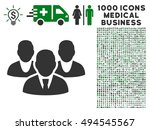 staff icon with 1000 medical...   Shutterstock .eps vector #494545567
