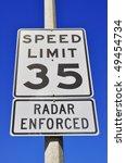 35 mile an hour  radar enforced ... | Shutterstock . vector #49454734