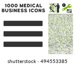 menu icon with 1000 medical...