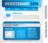 website template. vector... | Shutterstock .eps vector #49455442