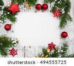 christmas background   ... | Shutterstock . vector #494555725