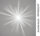 light effect on transparent... | Shutterstock .eps vector #494560147
