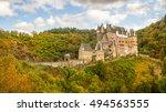 view of the burg eltz castle | Shutterstock . vector #494563555