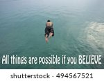 inspirational quote on blurred... | Shutterstock . vector #494567521