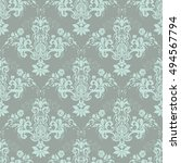 vector illustration. damask... | Shutterstock .eps vector #494567794