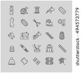 thin line web icons  ... | Shutterstock .eps vector #494573779
