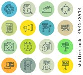 set of project management icons ... | Shutterstock .eps vector #494573914