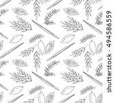 sukkot seamless pattern...   Shutterstock .eps vector #494586559