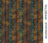 ethnic boho seamless pattern.... | Shutterstock . vector #494587741