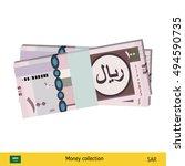 saudi arabian riyal banknote.  | Shutterstock .eps vector #494590735
