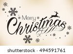 merry christmas vector... | Shutterstock .eps vector #494591761