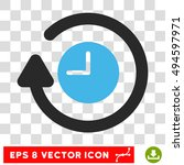 vector repeat clock eps vector... | Shutterstock .eps vector #494597971