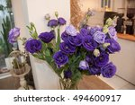 purple flowers vintage  | Shutterstock . vector #494600917