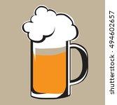 beer icon simple vector... | Shutterstock .eps vector #494602657