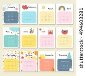 unusual calendar 2017 in... | Shutterstock .eps vector #494603281