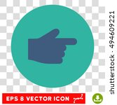 index finger round icon. vector ...