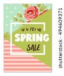 cute seasonal sale flyer... | Shutterstock .eps vector #494609371