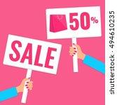 sale concept.promotion banner.... | Shutterstock .eps vector #494610235