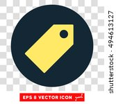 tag round icon. vector eps...   Shutterstock .eps vector #494613127