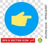 index finger round icon. vector ...
