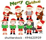 the christmas concert of santa... | Shutterstock .eps vector #494620939