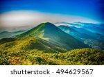 mountain landscape clouds in... | Shutterstock . vector #494629567