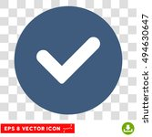 yes round icon. vector eps...